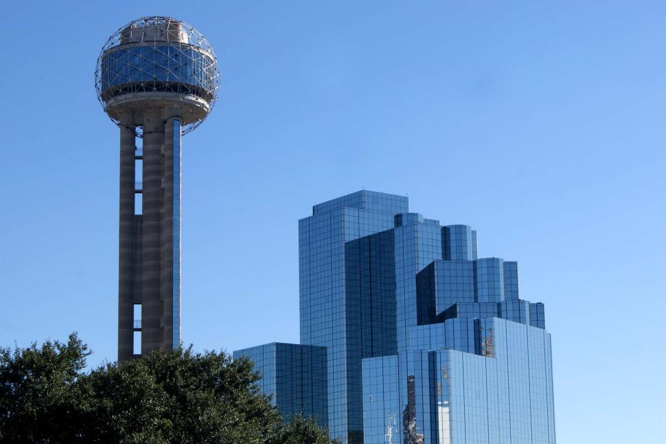 Download Free Stock HD Photo of Buildings in Dallas Texas Blue Sky Online