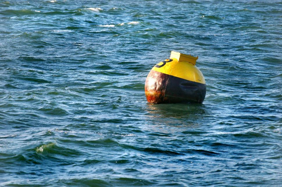 Download Free Stock HD Photo of Buoy Float in the ocean Online
