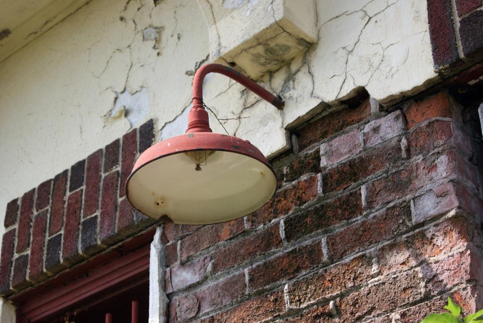 Download Free Stock HD Photo of Old lamp on a building  Online