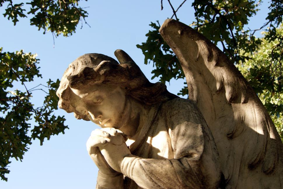 Download Free Stock HD Photo of Statue of angel, close-up Online