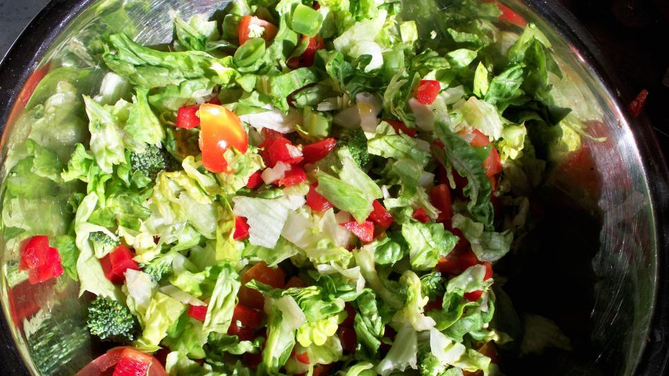 Download Free Stock HD Photo of Salad in Metal Bowl Online