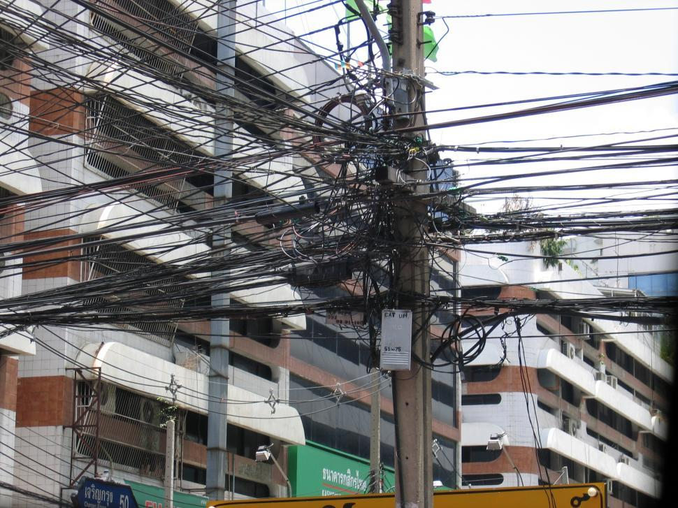 Download Free Stock HD Photo of Telephone lines in Thailand Online