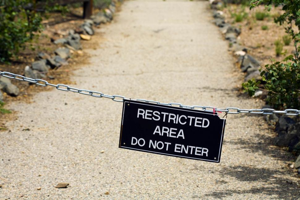 Download Free Stock HD Photo of Restricted area Online
