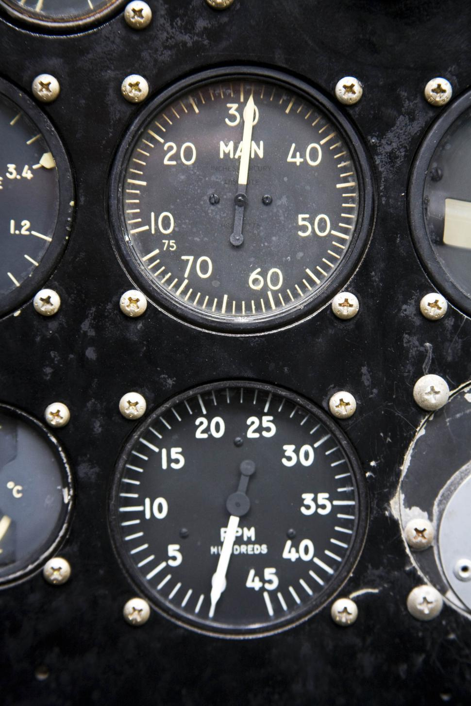 Download Free Stock HD Photo of different aircraft gauges Online