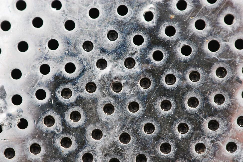 Download Free Stock HD Photo of Perforated metal texture Online