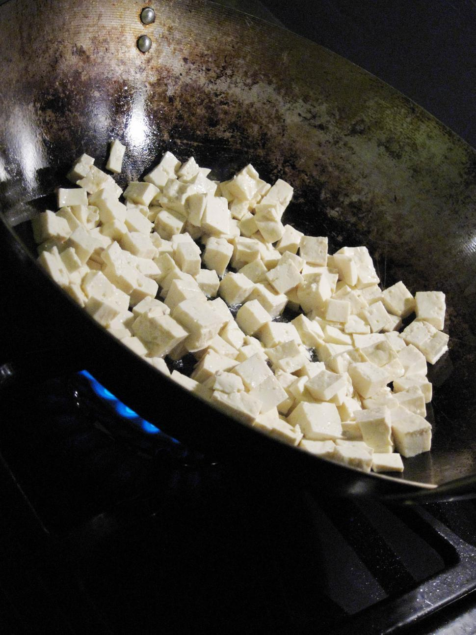 Download Free Stock HD Photo of Tofu in Wok Online