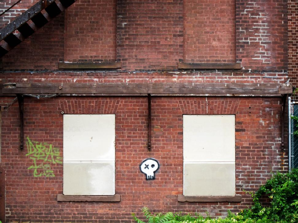 Download Free Stock HD Photo of brick and skull Online
