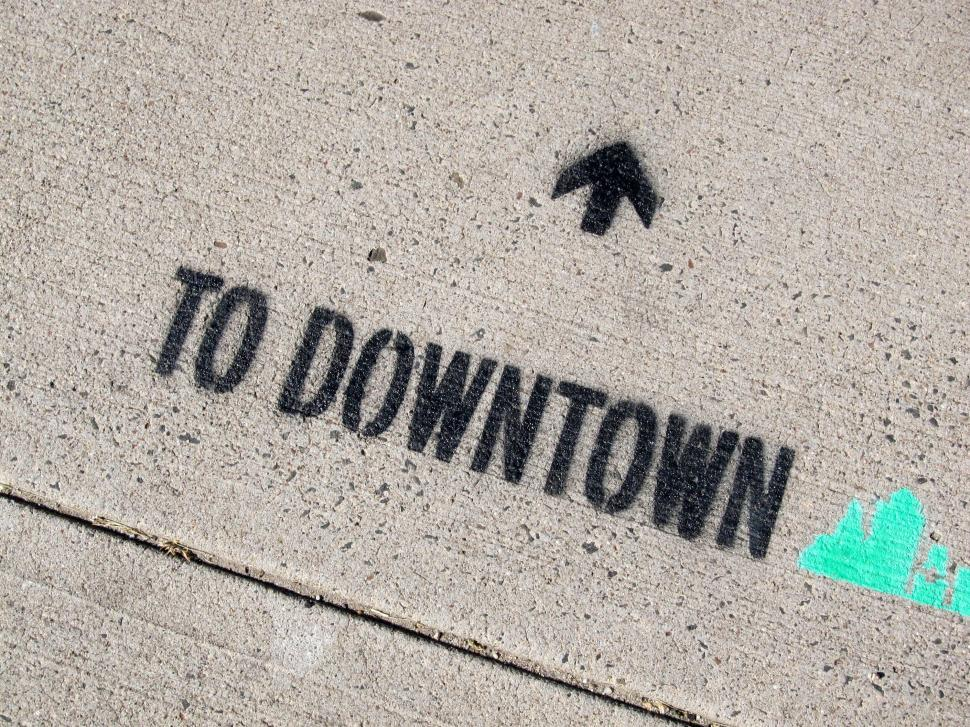 Download Free Stock HD Photo of Downtown arrows Online
