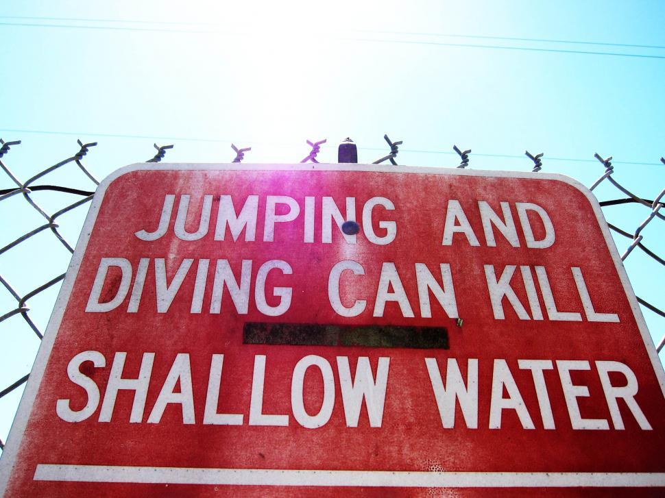 Download Free Stock HD Photo of no diving Online