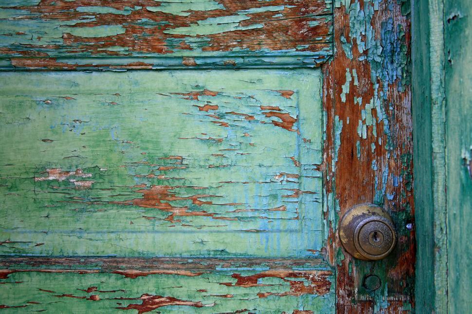 Download Free Stock HD Photo of peeling door paint Online