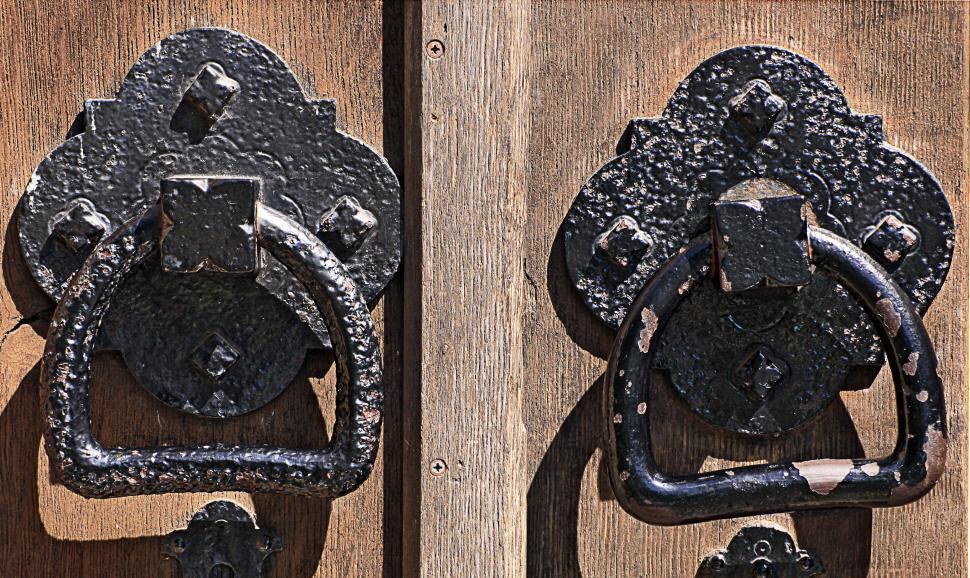 Download Free Stock HD Photo of iron door handles Online