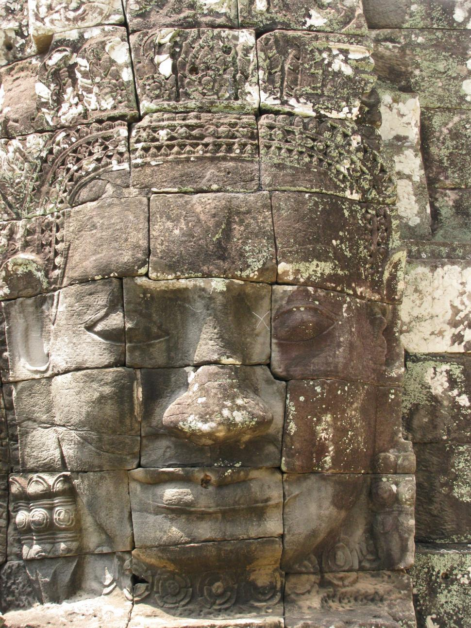 Download Free Stock HD Photo of Stone face Buddha Online