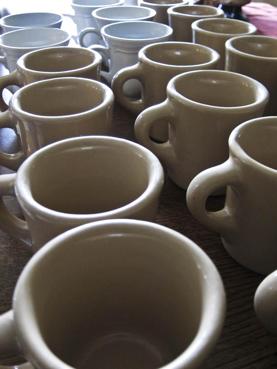 Download Free Stock HD Photo of empty mugs Online