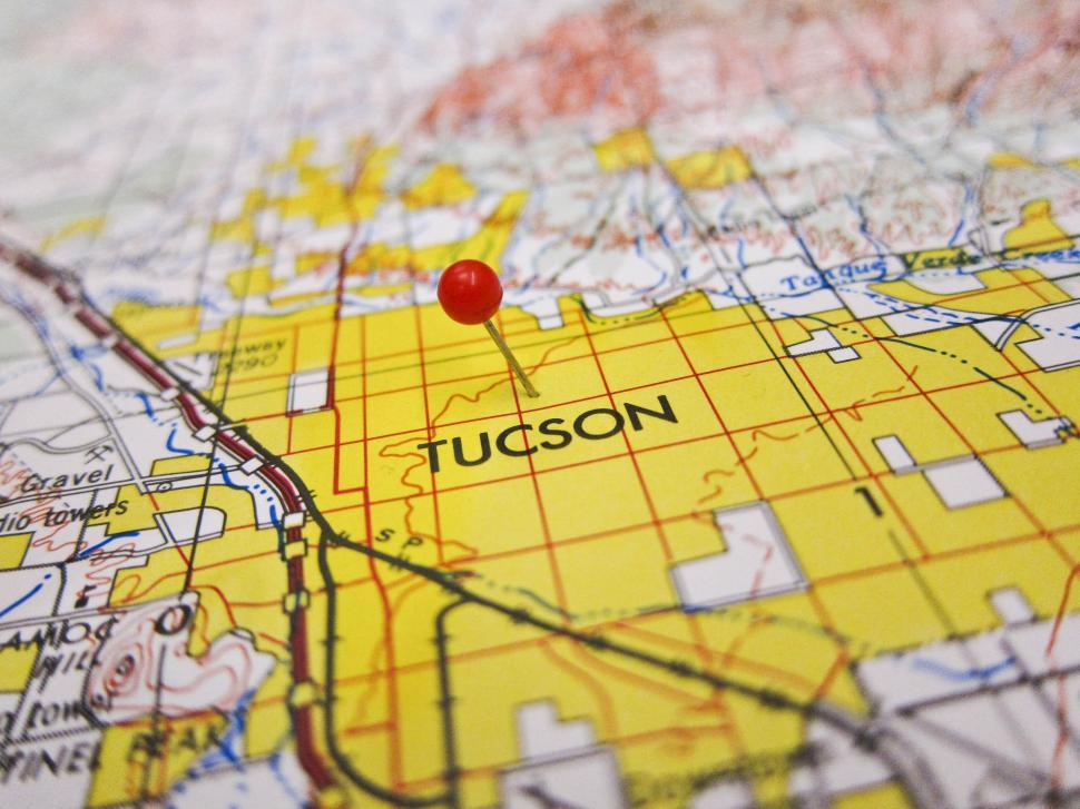 Download Free Stock HD Photo of Tucson Map Online