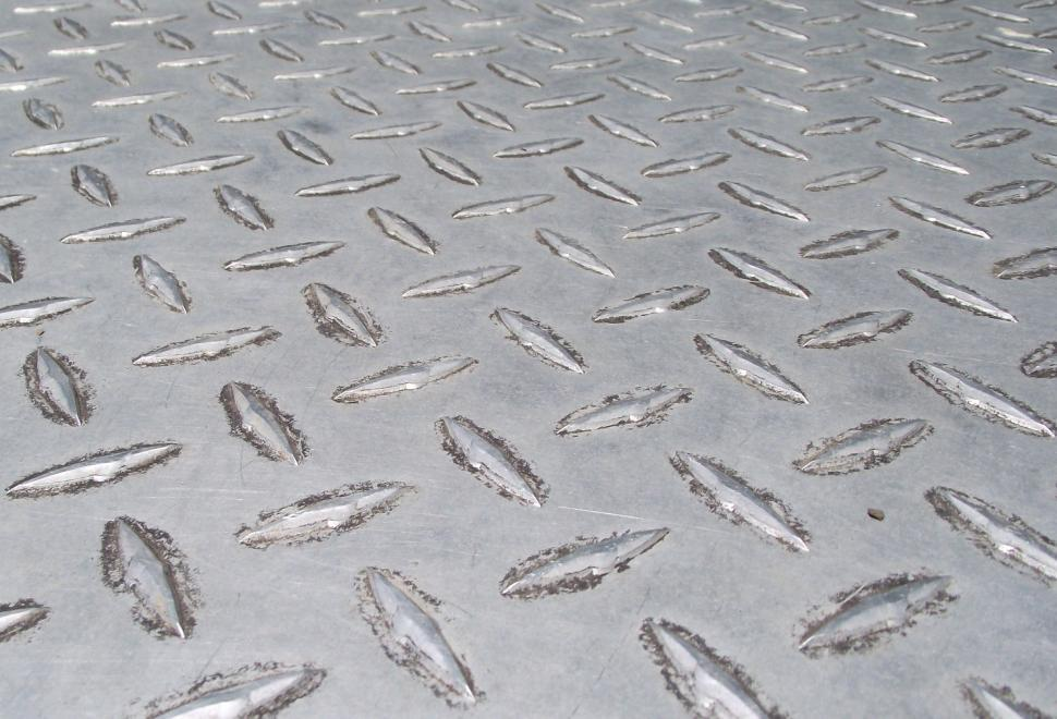 Download Free Stock HD Photo of Aluminum Diamond Plate Close up Online