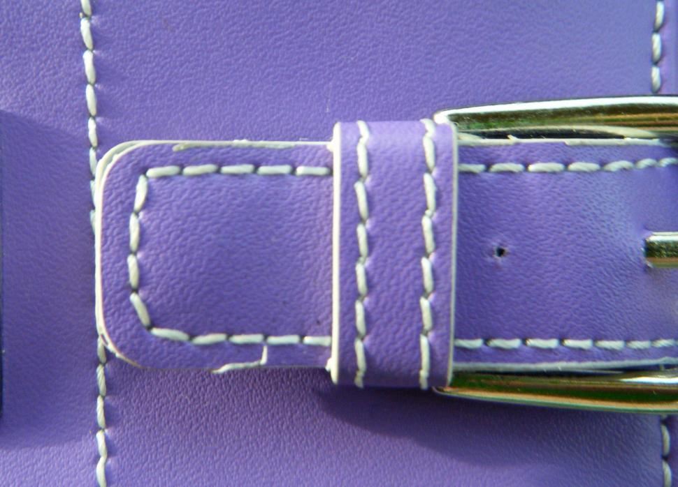 Download Free Stock HD Photo of Belt buckle with stitches close up Online