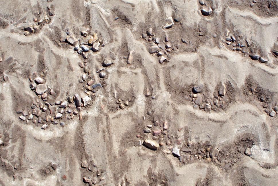 Download Free Stock HD Photo of Dry river bed patterns in the sand Online