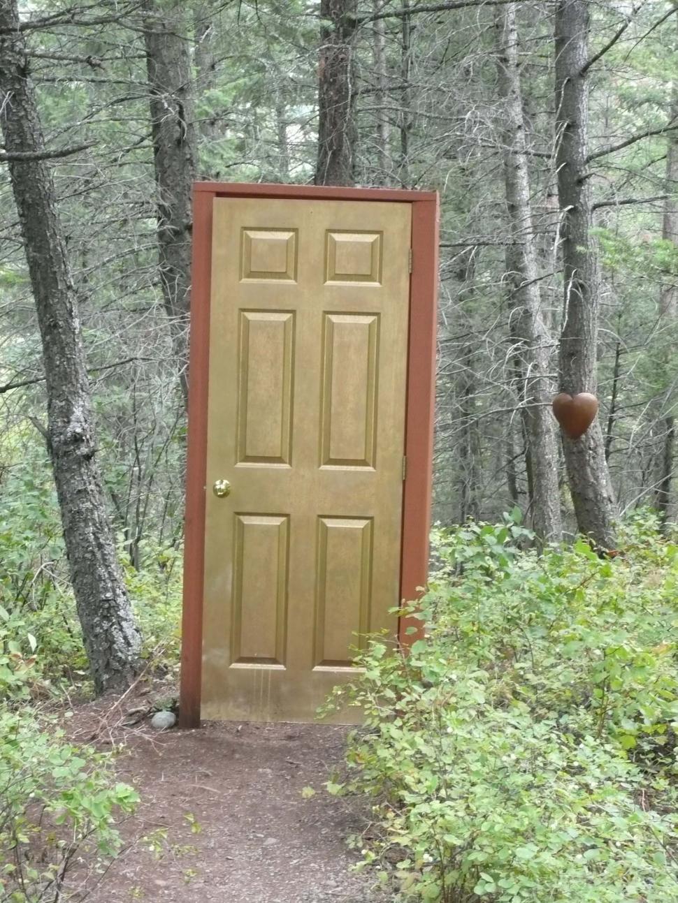 Download Free Stock HD Photo of Door In Woods Online
