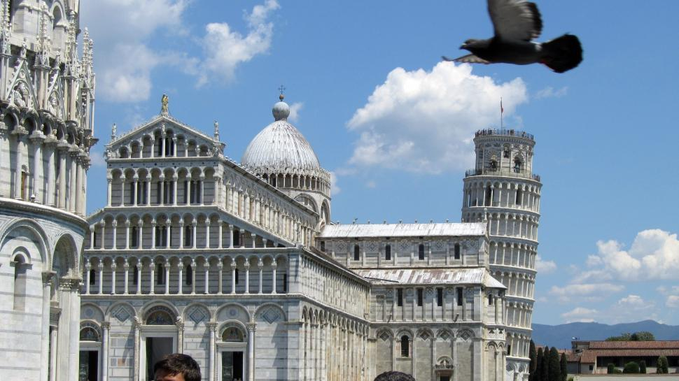 Download Free Stock HD Photo of Pisa - Square of Miracles - baptistery, the cathedral and tower Online
