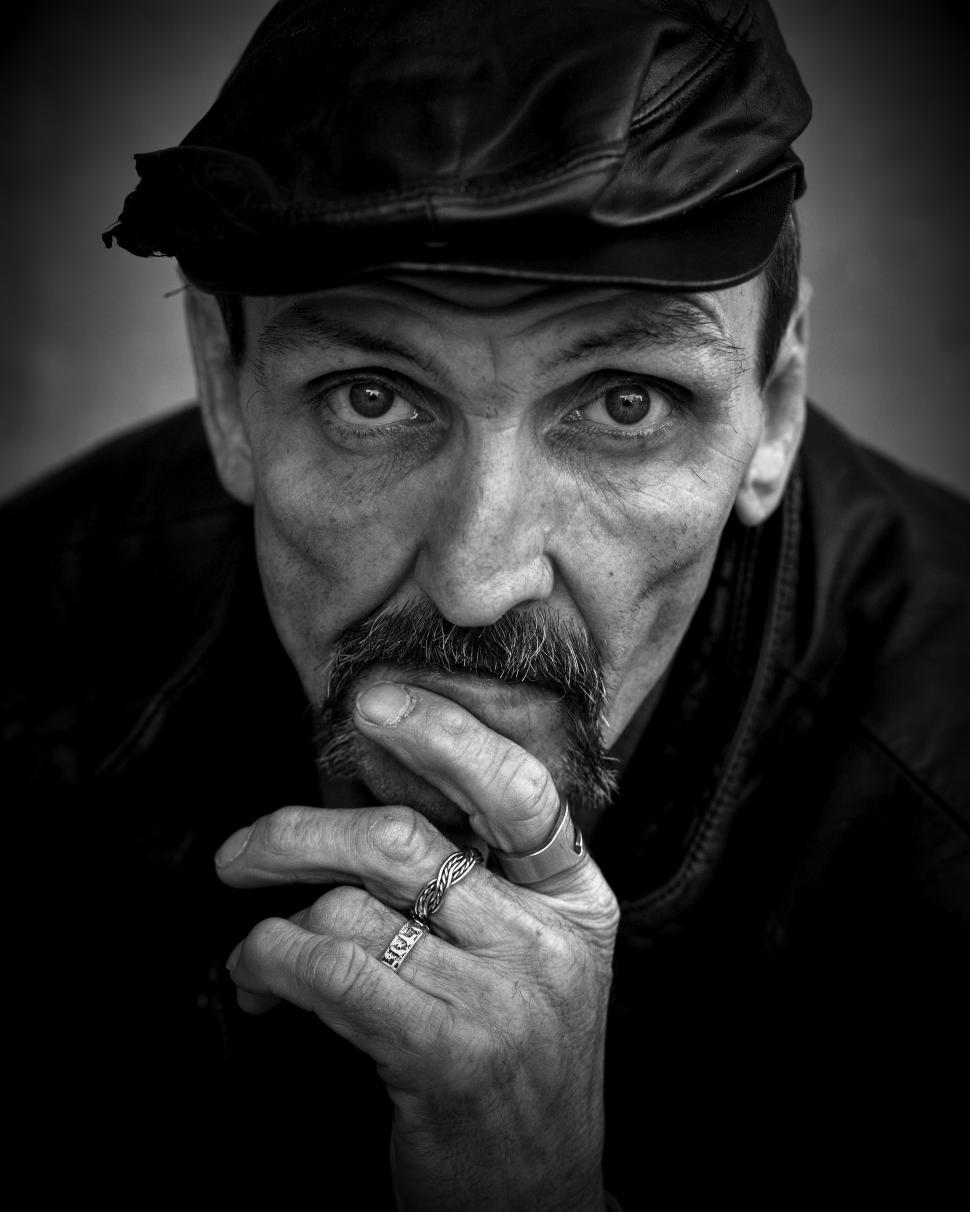 Download Free Stock HD Photo of Pensive Homeless, Street Portraiture Online