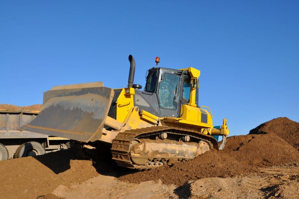 Download Free Stock HD Photo of Bulldozer on worksite Online
