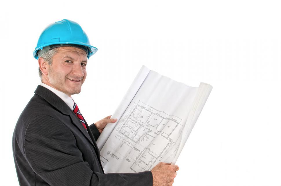Download Free Stock HD Photo of Architect with Plans Online