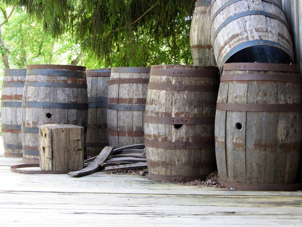 Download Free Stock HD Photo of Barrels in landscape Online