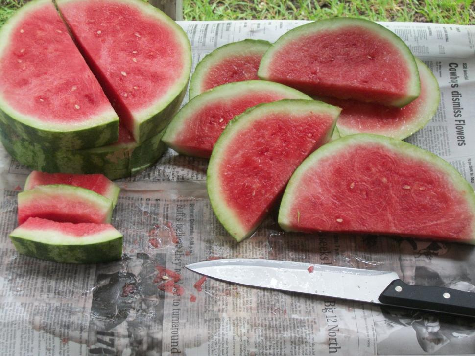 Download Free Stock HD Photo of Slicing Watermelon Online