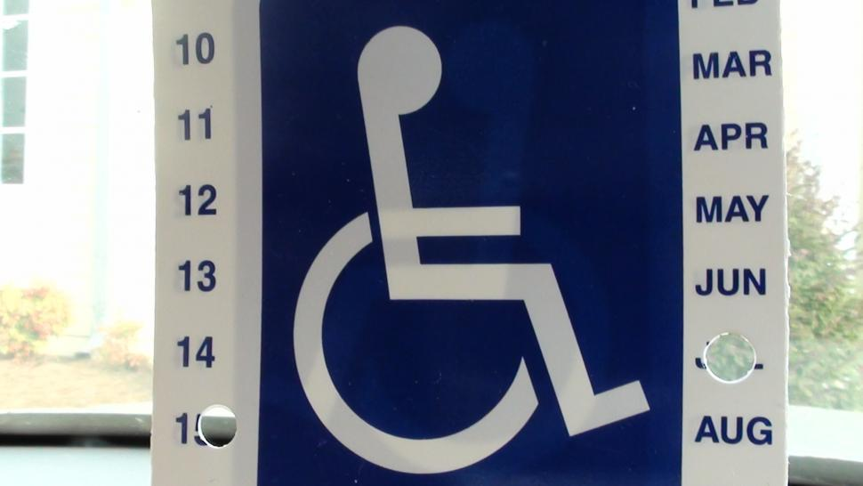 Download Free Stock HD Photo of Handicap sign for an individual Online