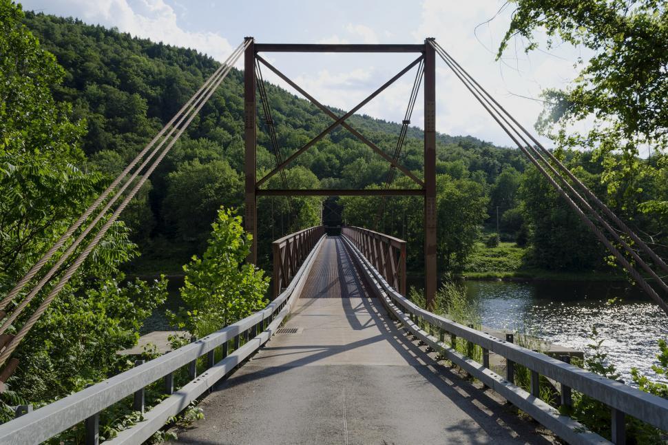 Download Free Stock HD Photo of Little Equinunk Bridge aka Kellams Bridge Online