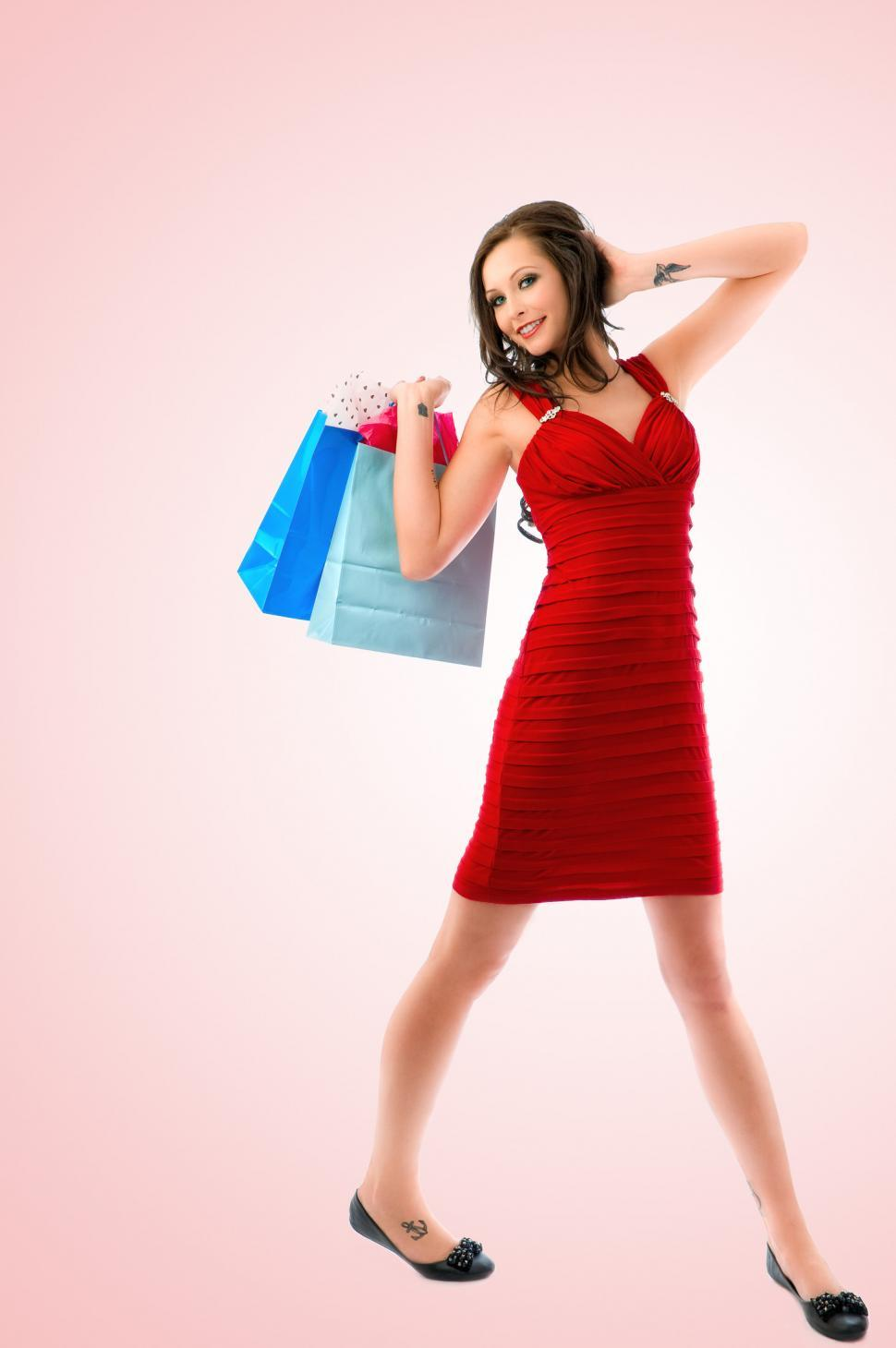 Download Free Stock HD Photo of Young shopper Online