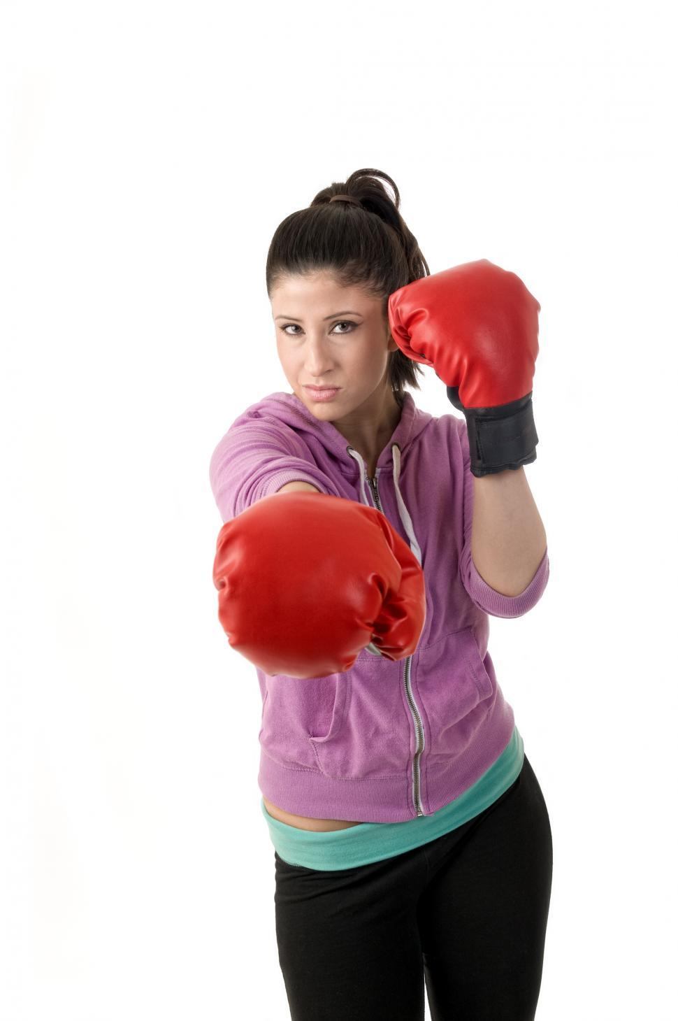 Download Free Stock HD Photo of Workout woman punches Online