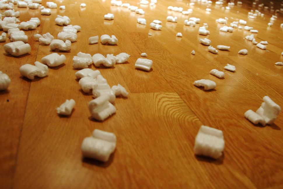 Download Free Stock HD Photo of Packing peanuts on the floor Online