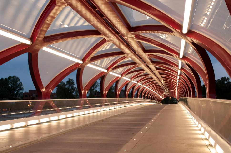 Download Free Stock HD Photo of Calgary Peace Bridge angle Online