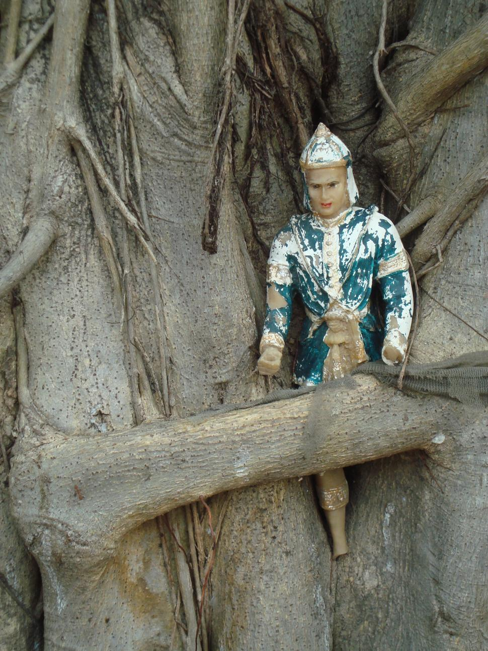 Download Free Stock HD Photo of Buddhist Icon in a Tree Online