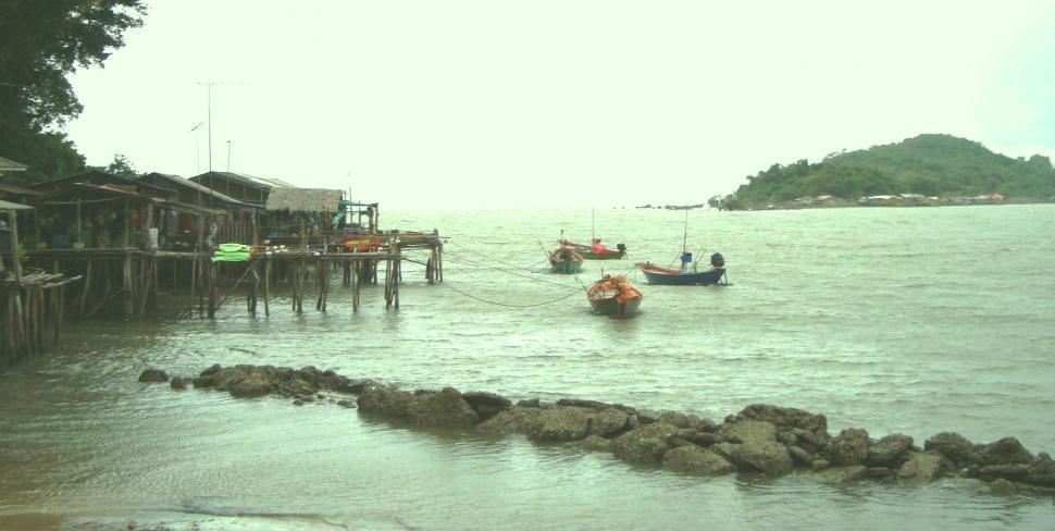 Download Free Stock HD Photo of Thai Fishing Village Online