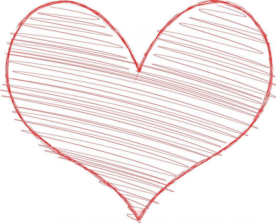 Download Free Stock HD Photo of Heart with Scribble Fill Online