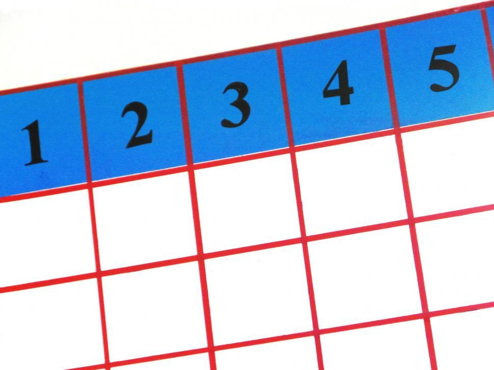 Download Free Stock HD Photo of Numbers 1 2 3 4 5 grid Online