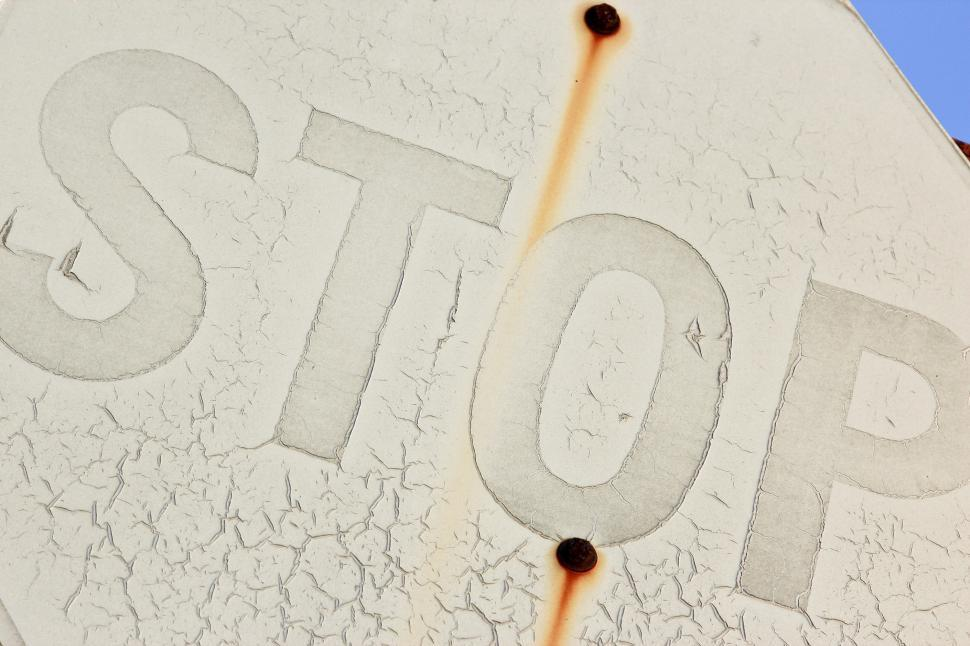 Download Free Stock HD Photo of Rusty Stop Sign Online