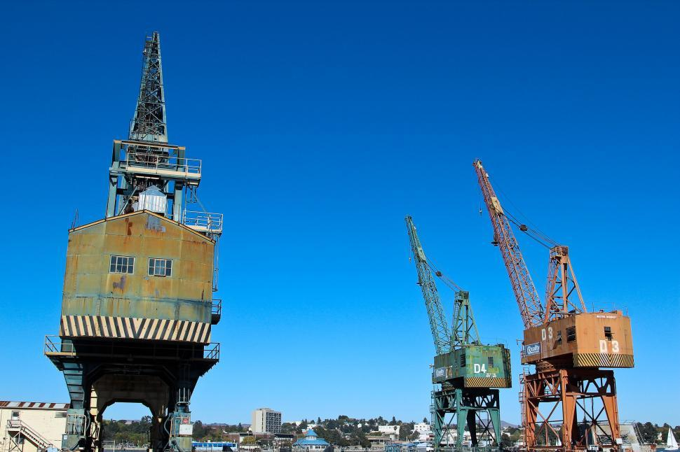 Download Free Stock HD Photo of Port Cranes Online