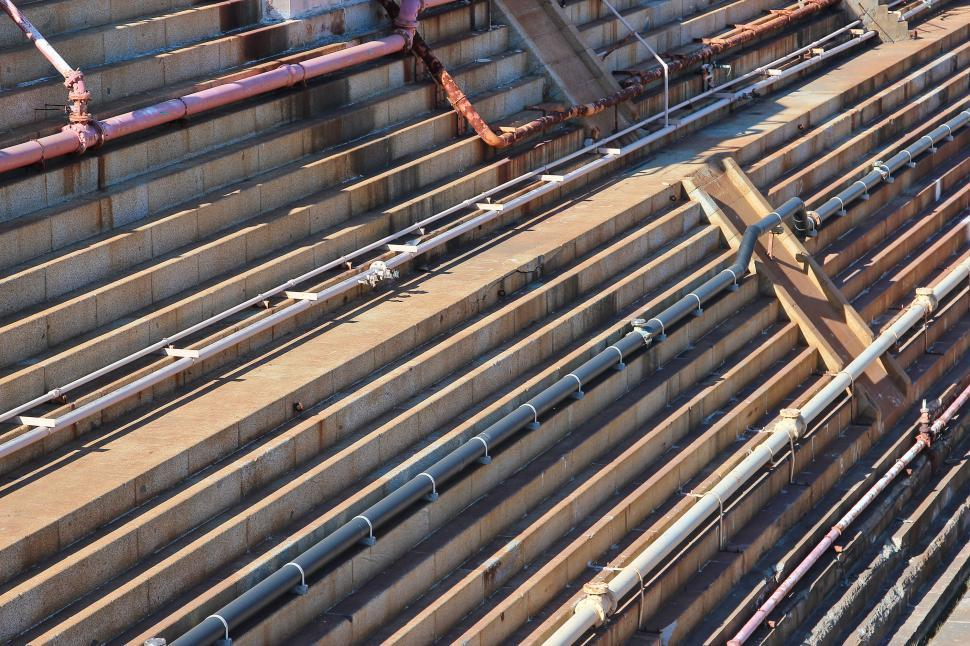 Download Free Stock HD Photo of Pipes in Dry Dock Online