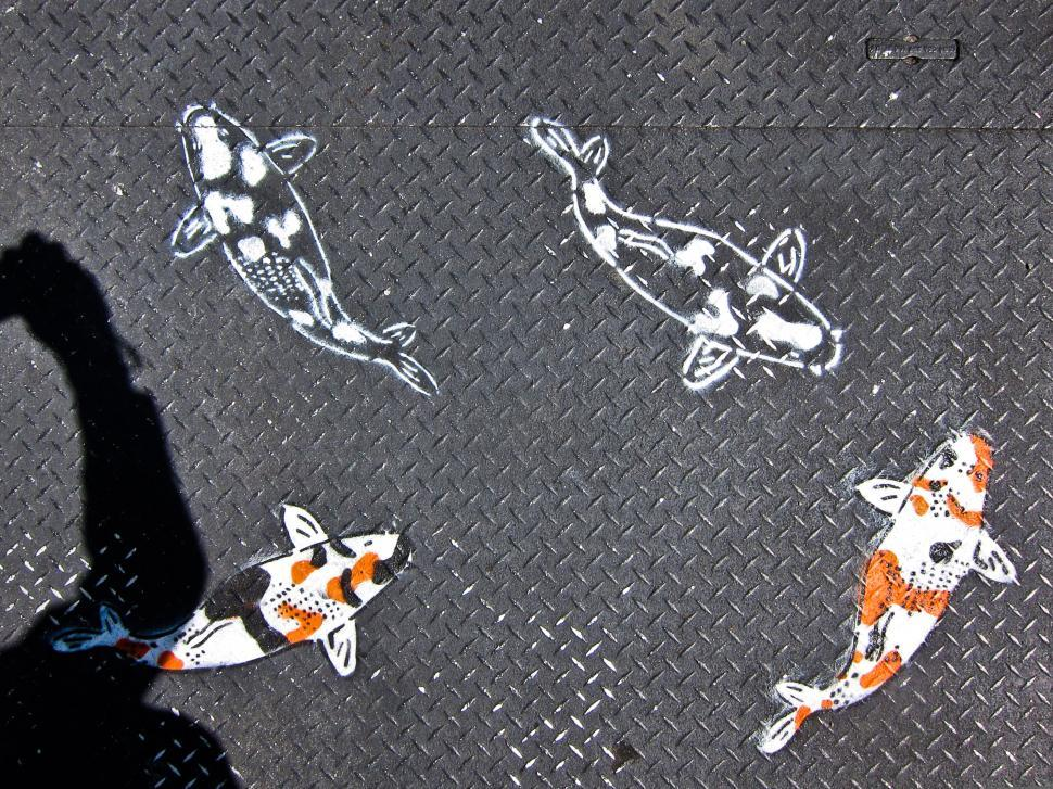 Download Free Stock HD Photo of Koi Street Art Online