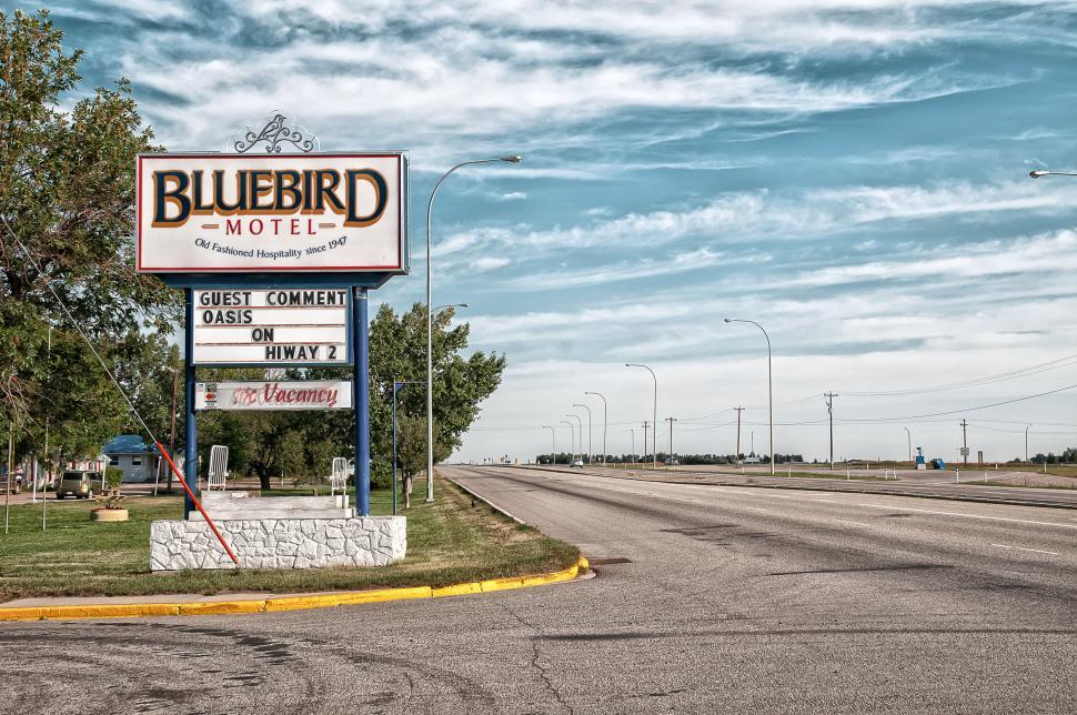 Download Free Stock HD Photo of Empty Road and Motel Online