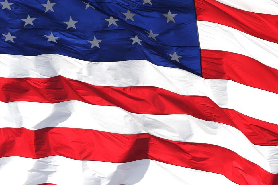 Download Free Stock HD Photo of American flag waves Online