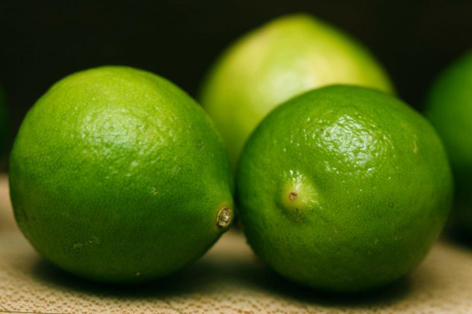 Download Free Stock HD Photo of Three ripe limes Online