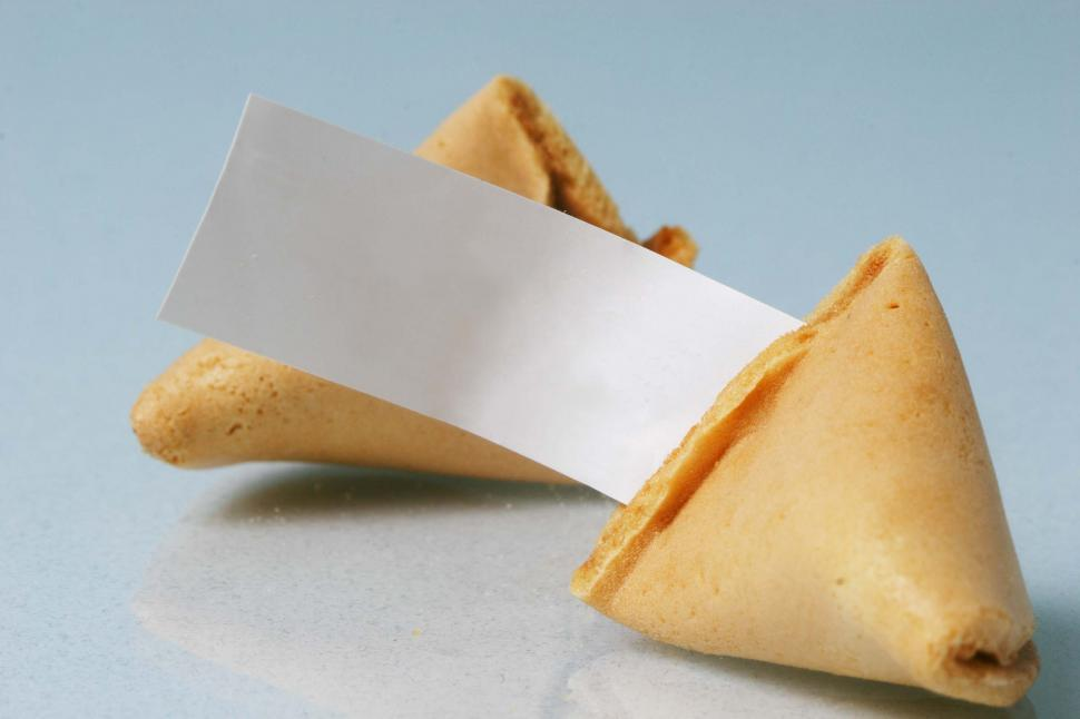 Download Free Stock HD Photo of Fortune cookie with blank fortune Online