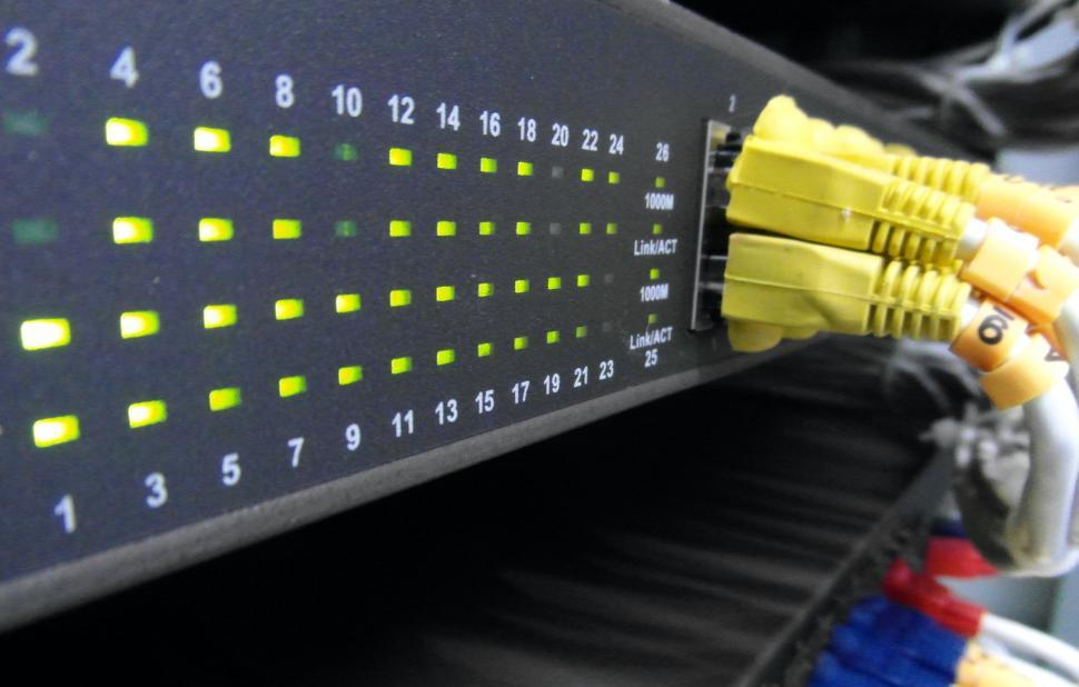 Download Free Stock HD Photo of Server Network Panel Online