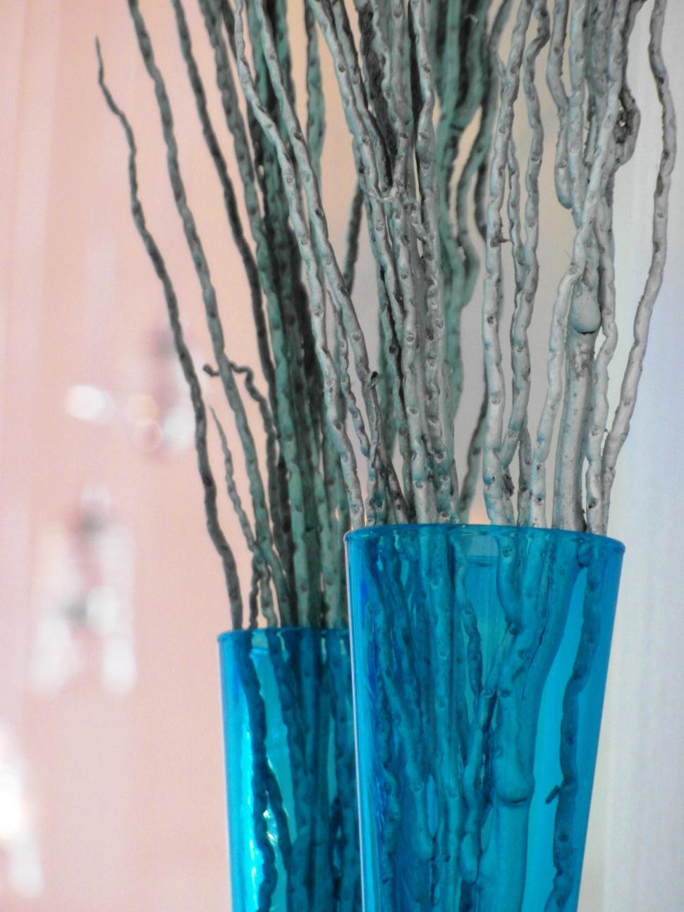 Download Free Stock HD Photo of Blue Glass Vase Decoration Online