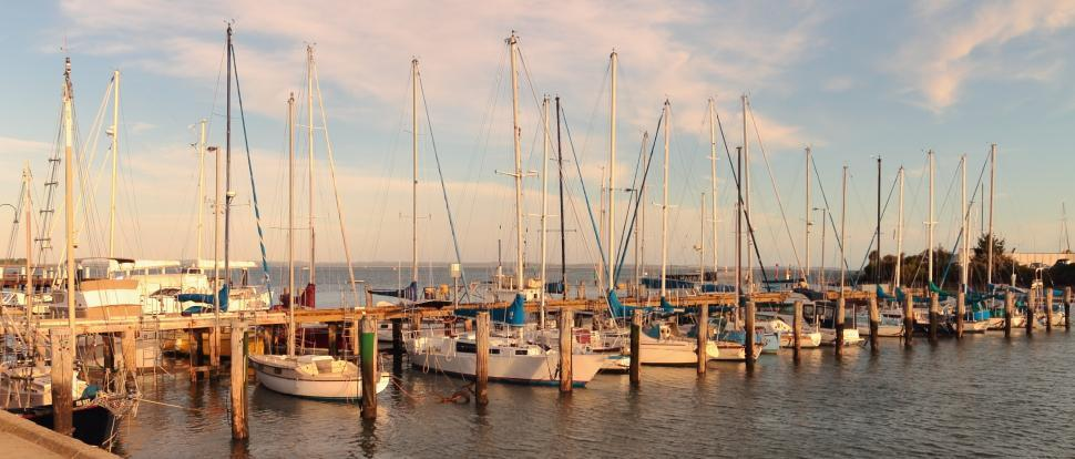 Download Free Stock HD Photo of Hastings Marina at Sunset Online