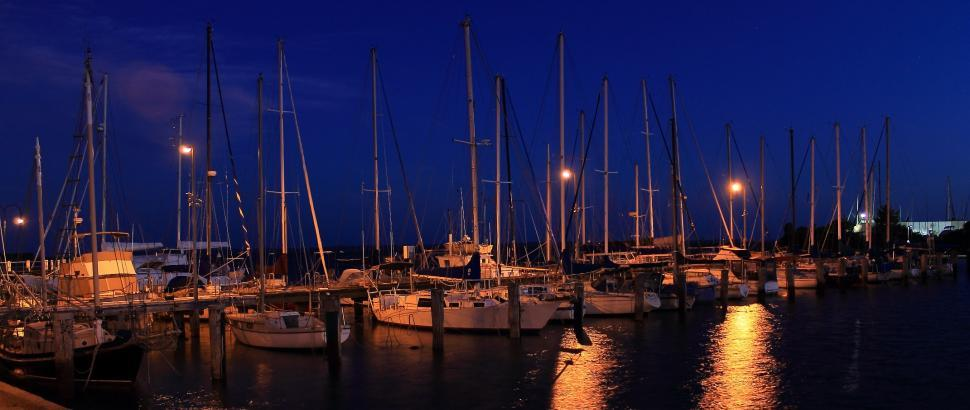 Download Free Stock HD Photo of Hastings Marina at night Online